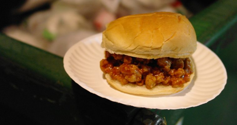 Sloppy Joe on hamburger bun