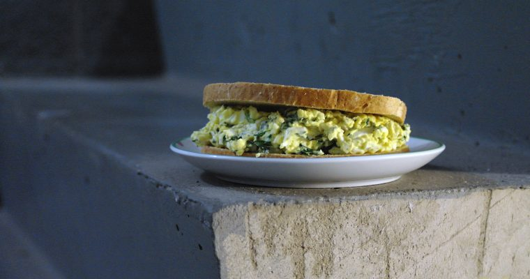 Egg Salad and Spinach on rye