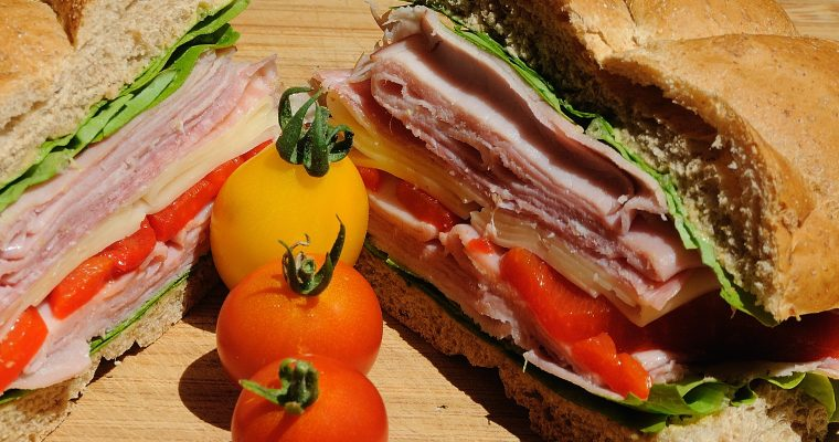 Ham and Swiss with garden extras