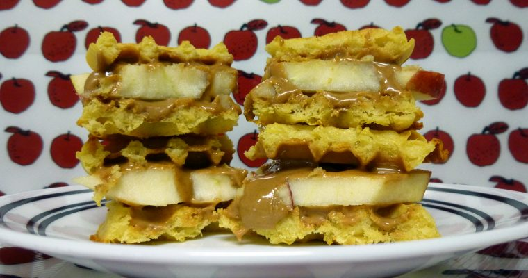 Peanut Butter & Apple on waffle