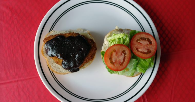 Barbecue Chicken on kaiser bun