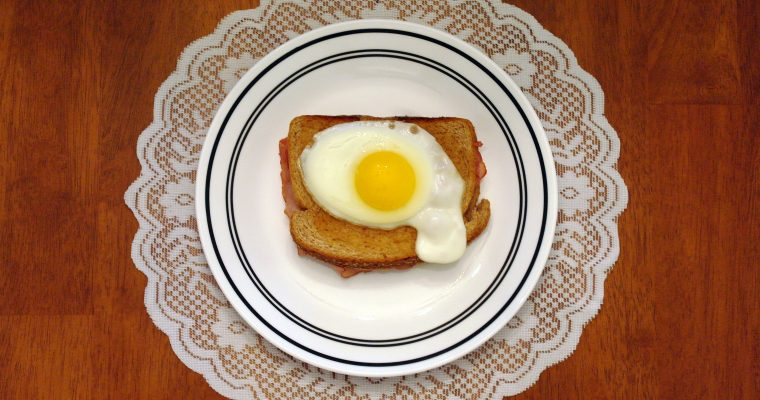 Croque Madame on wheat