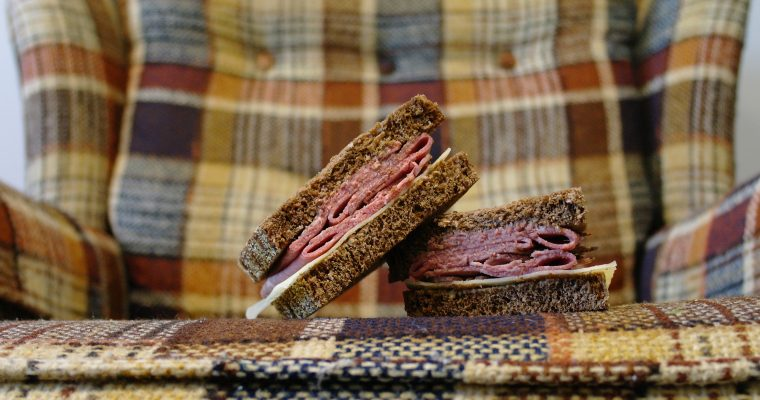 Roast Beef and Swiss on pumpernickel