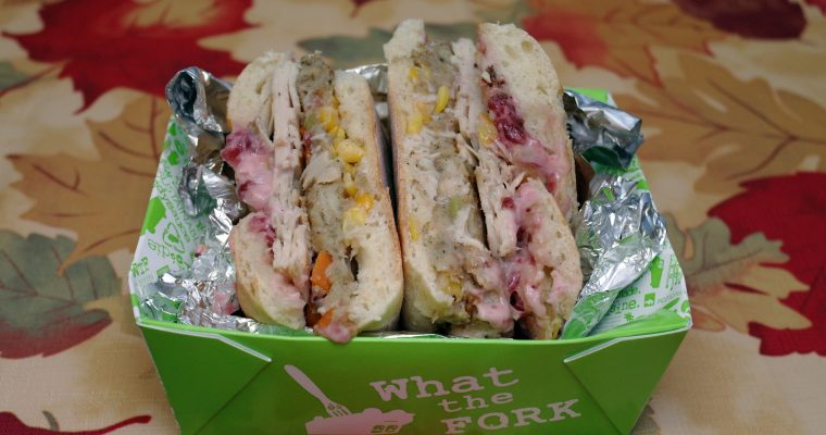 Turkey Sandwich from What the FORK