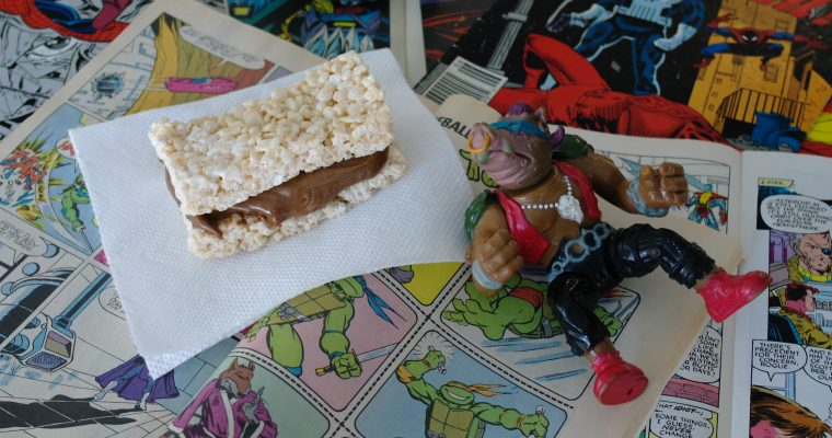 Cocoa Peanut Butter on Rice Krispies Treat