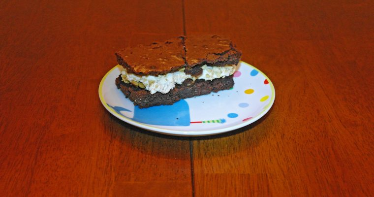 Marshmallow and Graham Cracker on brownie