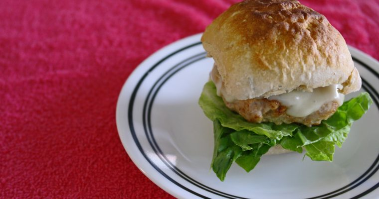 Turkey Slider on ciabatta