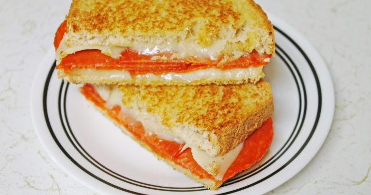 Pepperoni Grilled Cheese on wheat