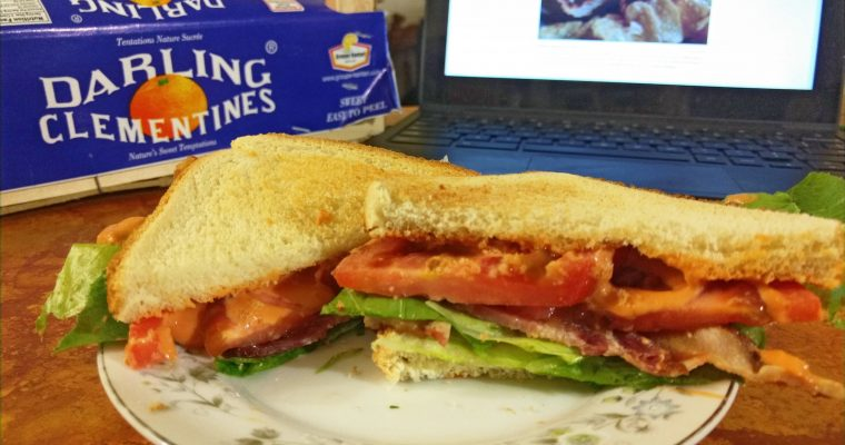 BLT on white toast