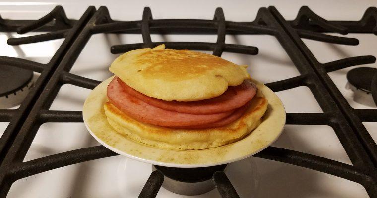 Pork Roll on pancakes