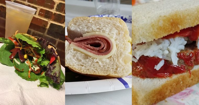 How I spent my summer vacation, in sandwiches