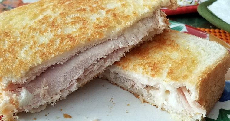 Turkey Grilled Cheese on white