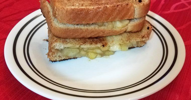 Apple Pie Filling on cinnamon toast