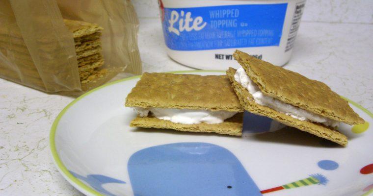 Whipped Cream on graham crackers