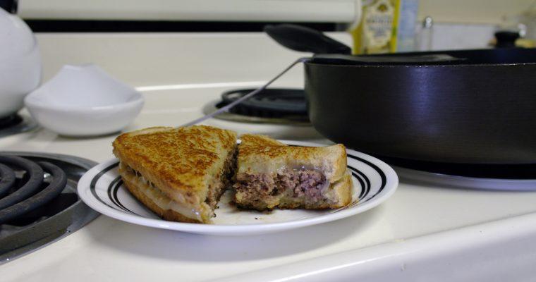 Beef Patty Melt on rye