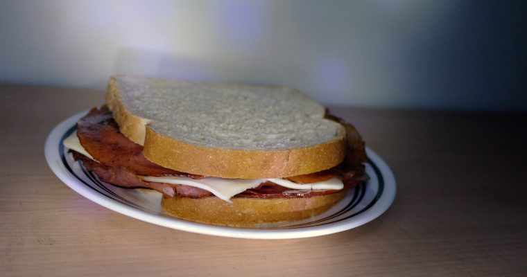 Fried Bologna & Cheese on white