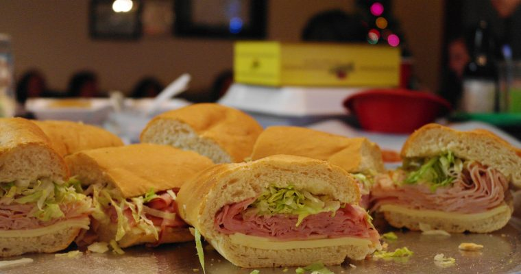 Ham & Cheese party sandwiches