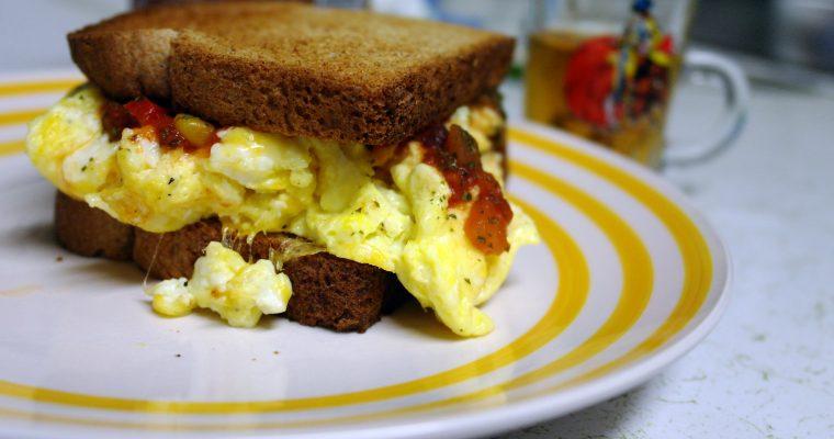 Huevos Rancheros on wheat toast