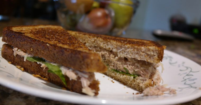 Grilled Tuna and Avocado on wheat