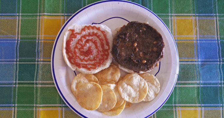 Bison Cheeseburger on bun