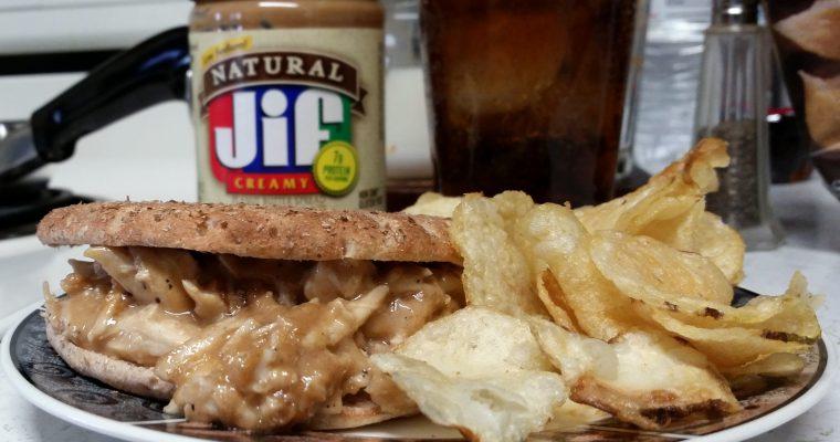Peanut Butter Chicken on bread thin
