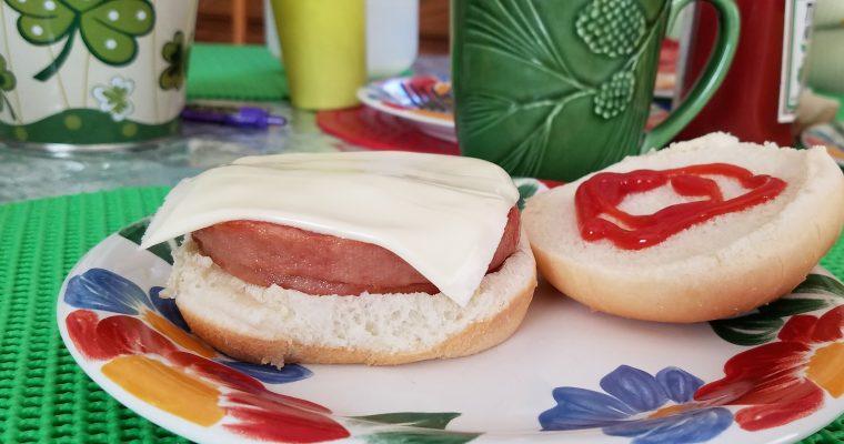 Pork Roll & Cheese on hamburger bun