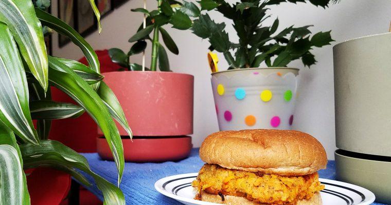 Carrot Burger on hamburger bun