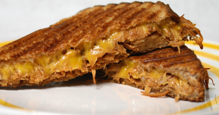 BBQ Chicken panini on wheat