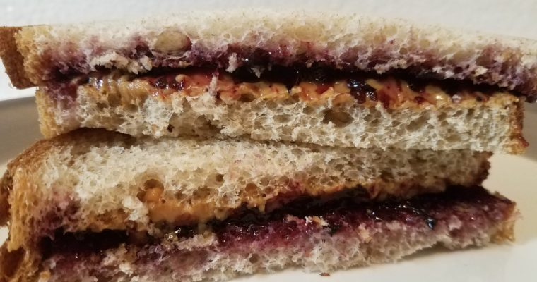 Peanut Butter and Jelly on wheat