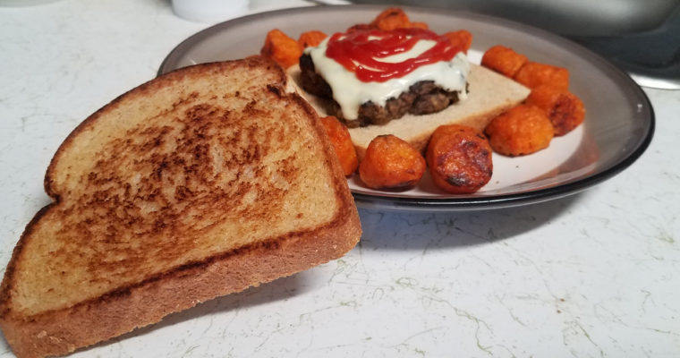 Patty Melt on wheat
